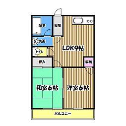 グリーンヒル昭島[1階]の間取り