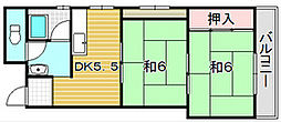 ハイツ米屋[3階]の間取り