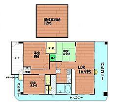 キングスクエアランドレックスA棟[15階]の間取り