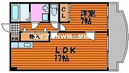 アークハイツ鹿田[4階]の間取り