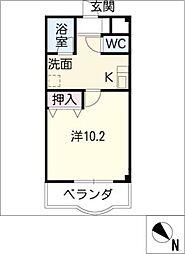 シティーハウス平成[3階]の間取り