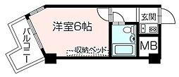 ライオンズマンション神戸元町第2 10階[10階]の間取り