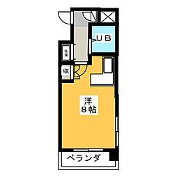 シャタック清水[2階]の間取り