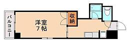 福岡県福岡市城南区片江3丁目の賃貸マンションの間取り
