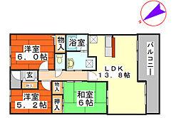 アミル21・サルビア館[8階]の間取り