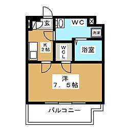 CREVISTA蒲田II 8階1Kの間取り