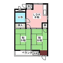 エステート65[2階]の間取り