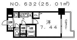エスティライフ天王寺東[802号室号室]の間取り