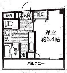 神奈川県川崎市多摩区菅馬場4丁目の賃貸マンションの間取り