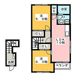 ミルキーベル[2階]の間取り