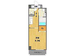 兵庫県宝塚市安倉南1丁目の賃貸マンションの間取り
