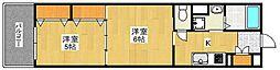 リファレンス箱崎[6階]の間取り