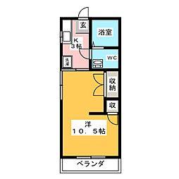 エーダイロイヤルコーポ[1階]の間取り