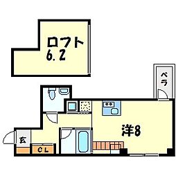 C4 Koshien east[3階]の間取り
