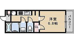 Osaka Metro御堂筋線 あびこ駅 徒歩4分の賃貸マンション 2階1Kの間取り