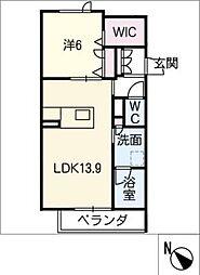 仮)JA賃貸豊田市金谷町2丁目 3階1SLDKの間取り