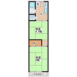 大森文化住宅[2階]の間取り