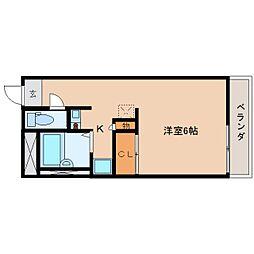 奈良県香芝市五位堂の賃貸マンションの間取り
