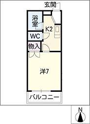 コーポフレッシュ[1階]の間取り