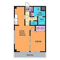 ドエル平井B棟[3階]の間取り