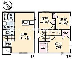 [一戸建] 岡山県倉敷市平田丁目なし の賃貸【/】の間取り