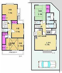 [一戸建] 神奈川県茅ヶ崎市菱沼1丁目 の賃貸【/】の間取り