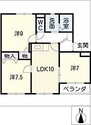 supreme MATSUNO[2階]の間取り