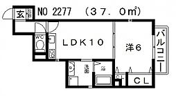 カラーズ帝塚山東[311号室号室]の間取り