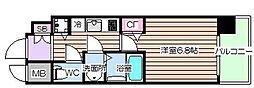 レジュールアッシュザ・パークフロント[3階]の間取り