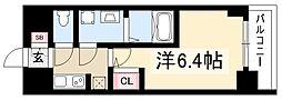 S-RESIDENCE熱田 9階1Kの間取り