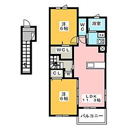 ティアレ[2階]の間取り