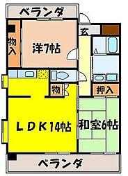 サンライフマンション[405号室]の間取り