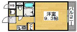 パルファン梅北[2階]の間取り
