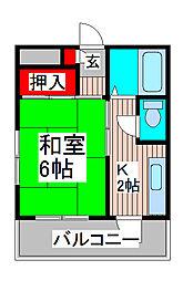 高橋コーポ[2階]の間取り