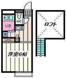 埼玉県さいたま市西区土屋の賃貸アパートの間取り