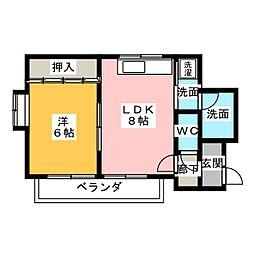 大野木ビラ[1階]の間取り