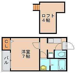 ベネフィスタウン吉塚 III[1階]の間取り