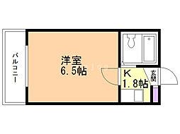 総業北14条第5ハイム 3階1Kの間取り