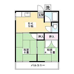 東京都板橋区高島平9丁目の賃貸アパートの間取り