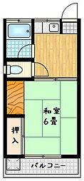 新栄荘[2階]の間取り