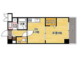 福岡県福岡市東区松田3丁目の賃貸マンションの間取り