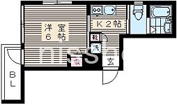 7289−ベルコート南台[2階]の間取り