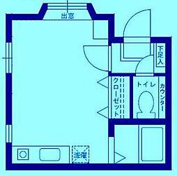 フジハイツ[1階]の間取り