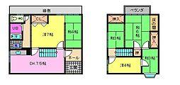 [一戸建] 滋賀県大津市中央4丁目 の賃貸【/】の間取り