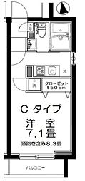 東京都豊島区北大塚2丁目の賃貸マンションの間取り