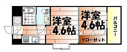 No.47 PROJECT2100小倉駅[401号室]の間取り