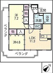 グランドマンションII[3階]の間取り