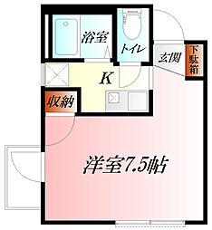 ROOM 1 HIRATO 女性専用[2階]の間取り