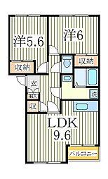 コンフォース3[1階]の間取り