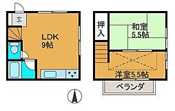 [テラスハウス] 神奈川県相模原市南区東林間8丁目 の賃貸【/】の間取り